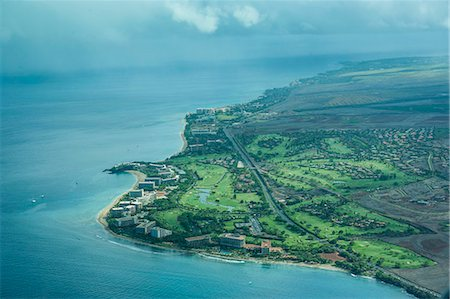 Aerial of Maui, Hawaii, United States of America, Pacific Stock Photo - Premium Royalty-Free, Code: 6119-07443885