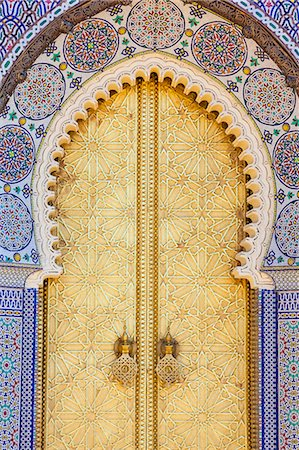 Royal Palace door, Fes, Morocco, North Africa, Africa Stock Photo - Premium Royalty-Free, Code: 6119-07451594
