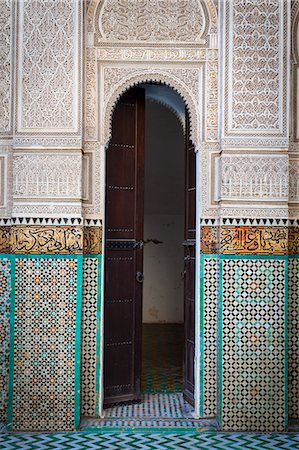 decorative - Bou Inania Medersa, Medina, UNESCO World Heritage Site, Meknes, Meknes-Tafilalet, Morocco, North Africa, Africa Stock Photo - Premium Royalty-Free, Code: 6119-07451530