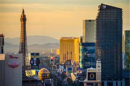 The Strip, Las Vegas, Nevada, United States of America, North America Stock Photo - Premium Royalty-Free, Code: 6119-07453054