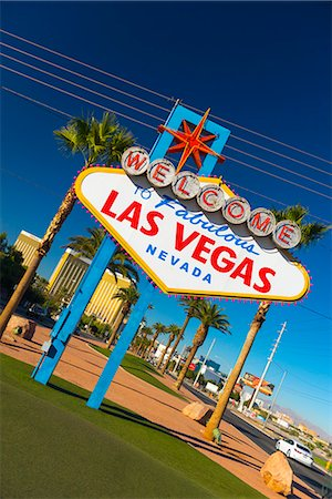 Welcome To Fabulous Las Vegas sign, Las Vegas, Nevada, United States of America, North America Stock Photo - Premium Royalty-Free, Code: 6119-07453055