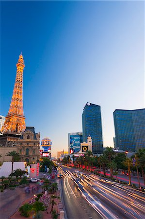 Paris Las Vegas Hotel and Casino, The Strip, Las Vegas, Nevada, United States of America, North America Stock Photo - Premium Royalty-Free, Code: 6119-07453056