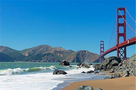 Golden Gate Bridge, San Francisco, California, United States of America, North America Stock Photo - Premium Royalty-Free, Code: 6119-07651953