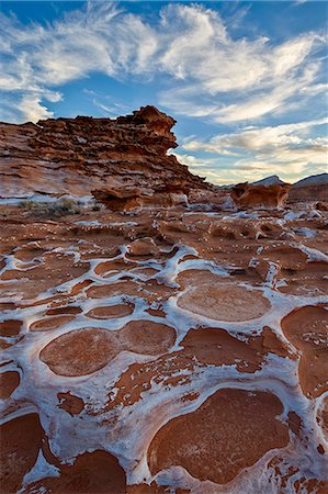 Red sandstone covered with salt, Gold Butte, Nevada, United States of America, North America Stock Photo - Premium Royalty-Free, Code: 6119-07781173