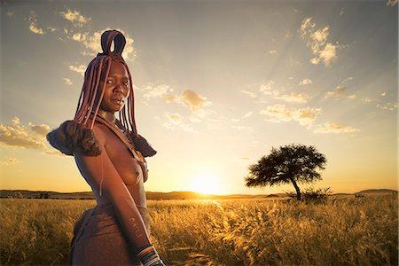 Himba woman, Kaokoland, Namibia, Africa Stock Photo - Premium Royalty-Free, Code: 6119-07845665