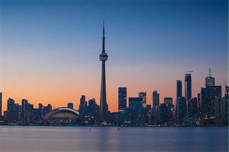 places - View of CN Tower and city skyline, Toronto, Ontario, Canada, North America Stock Photo - Premium Royalty-Free, Code: 6119-07943559