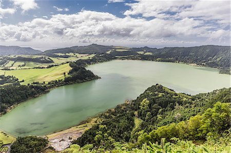 portuguese (places and things) - Furnas Valley, a site of bubbling hot springs and fumaroles on the Azorean capital island of Sao Miguel, Azores, Portugal, Europe Stock Photo - Premium Royalty-Free, Code: 6119-07943754