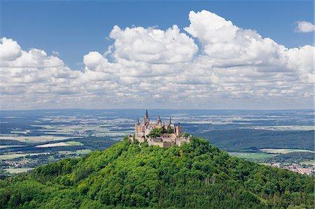 Burg Hohenzollern Castle, Zollernalb, Schwaebische Alb (Swabian Alb), Baden Wurttemberg, Germany, Europe Stock Photo - Premium Royalty-Free, Code: 6119-07968935