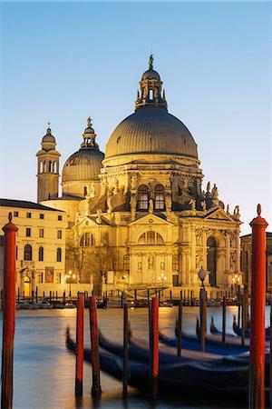 Basilica di Santa Maria della Salute on the Grand Canal, Venice, UNESCO World Heritage Site, Veneto, Italy, Europe Stock Photo - Premium Royalty-Free, Code: 6119-08062234