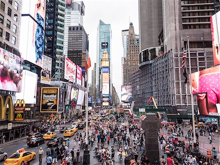 street - Times Square, Theatre District, Midtown, Manhattan, New York City, New York, United States of America, North America Stock Photo - Premium Royalty-Free, Code: 6119-08062313