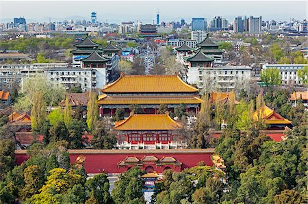 The Forbidden City in Beijing looking South taken from the viewing point of Jingshan Park, Beijing, China, Asia Stock Photo - Premium Royalty-Free, Code: 6119-08081154