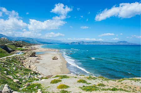 Long sandy beach of Petres, Crete, Greek Islands, Greece, Europe Stock Photo - Premium Royalty-Free, Code: 6119-08126554