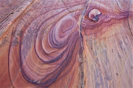 extreme terrain - Purple loops in sandstone, Coyote Buttes Wilderness, Vermilion Cliffs National Monument, Arizona, United States of America, North America Stock Photo - Premium Royalty-Free, Code: 6119-08126528