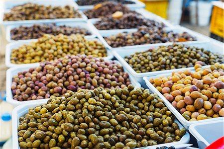 supermarket not people - Olives in fresh produce market, Fethiye, Anatolia, Turkey, Asia Minor, Eurasia Stock Photo - Premium Royalty-Free, Code: 6119-08242932