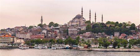 Suleymaniye Mosque, UNESCO World Heritage Site, seen across Golden Horn, Istanbul, Turkey, Europe Stock Photo - Premium Royalty-Free, Code: 6119-08278575