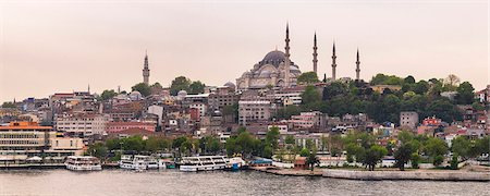 Suleymaniye Mosque, UNESCO World Heritage Site, seen across Golden Horn, Istanbul, Turkey, Europe Stock Photo - Premium Royalty-Free, Code: 6119-08278575