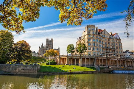 Bath Abbey, Bath, UNESCO World Heritage Site, Avon, Somerset, England, United Kingdom, Europe Stock Photo - Premium Royalty-Free, Code: 6119-08420460