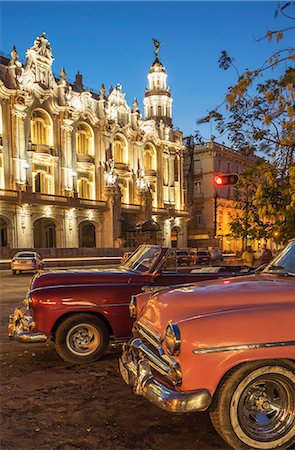 Havana at night, Cuba, West Indies, Caribbean, Central America Stock Photo - Premium Royalty-Free, Code: 6119-08420474