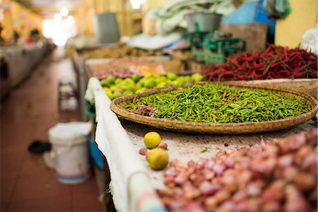 Chillies in market in Pulua Weh, Sumatra, Indonesia, Southeast Asia Stock Photo - Premium Royalty-Free, Code: 6119-08541955
