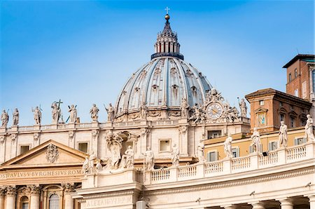 places - St. Peters' dome, Vatican City, UNESCO World Heritage Site, Rome, Lazio, Italy, Europe Stock Photo - Premium Royalty-Free, Code: 6119-08542002