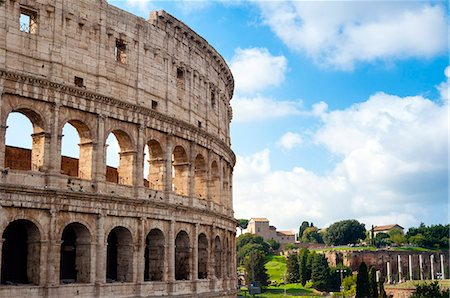 Colosseum (Flavian Amphitheatre), UNESCO World Heritage Site, Rome, Lazio, Italy, Europe Stock Photo - Premium Royalty-Free, Code: 6119-08641204