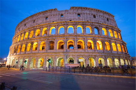 The Colosseum, UNESCO World Heritage Site, Rome, Lazio, Italy, Europe Stock Photo - Premium Royalty-Free, Code: 6119-08658091