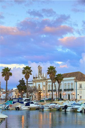 portuguese (places and things) - View of Arco da Vila across The Harbour, Faro, Eastern Algarve, Algarve, Portugal, Europe Stock Photo - Premium Royalty-Free, Code: 6119-08797135
