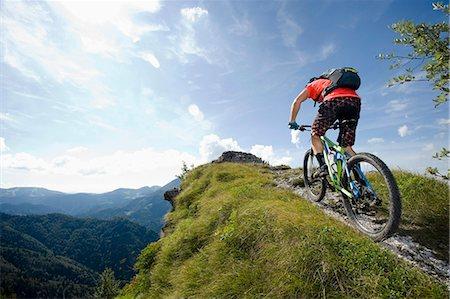 dynamic - mountain biker on the way uphill, Slatnik, Istria, Slovenia Stock Photo - Premium Royalty-Free, Code: 6121-07741760