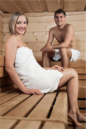Man and woman in a sauna Stock Photo - Premium Royalty-Free, Code: 6121-07810214