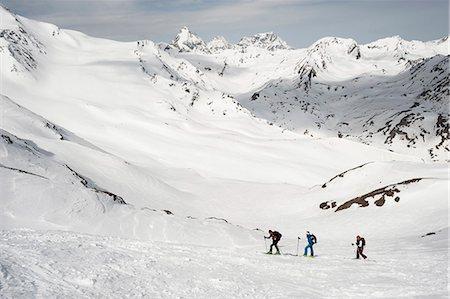 Cross-country ski tour mountain snow winter Stock Photo - Premium Royalty-Free, Code: 6121-07810325