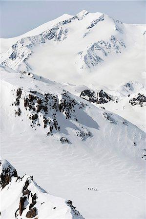 Cross country ski tour mountain snow winter Stock Photo - Premium Royalty-Free, Code: 6121-07810337