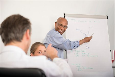 Multi-Ethnic Group men woman meeting office Stock Photo - Premium Royalty-Free, Code: 6121-07970043