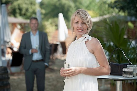 european cafe bar - Man woman chic party date attractive garden Stock Photo - Premium Royalty-Free, Code: 6121-07970243