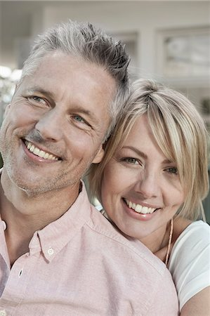 Mature middle aged couple wellbeing happy portrait Stock Photo - Premium Royalty-Free, Code: 6121-07970246