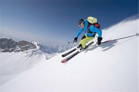 extreme terrain - Young man skiing, Rofan, Tyrol, Austria Stock Photo - Premium Royalty-Free, Code: 6121-08106999