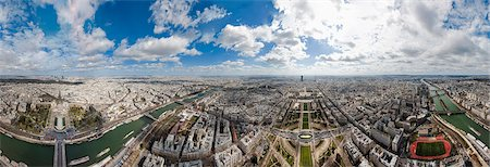 paris - Aerial view of the cityscape, Paris, France Stock Photo - Premium Royalty-Free, Code: 6121-08107023
