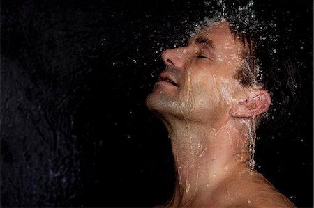 shower - Man washing his hair in shower Stock Photo - Premium Royalty-Free, Code: 6122-07703397