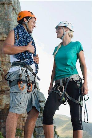 rock climber - Climbers talking on mountain Stock Photo - Premium Royalty-Free, Code: 6122-07705003