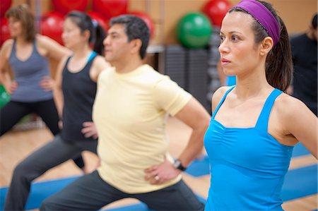 fitness older women gym - People practicing yoga in studio Stock Photo - Premium Royalty-Free, Code: 6122-07706643