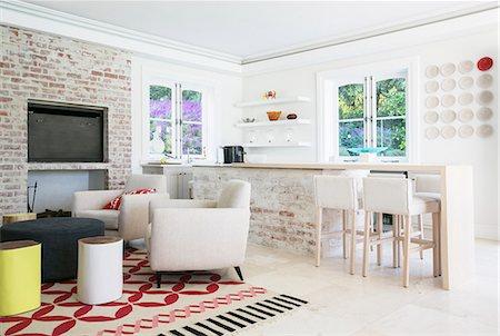 Home showcase open floor plan Stock Photo - Premium Royalty-Free, Code: 6124-08170536