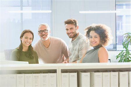 Portrait confident business people in office Stock Photo - Premium Royalty-Free, Code: 6124-08703938