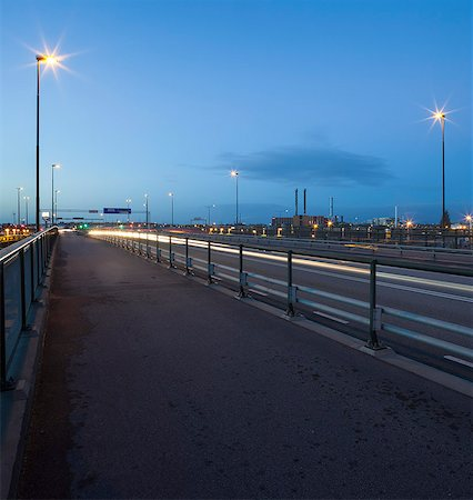 Sweden, Skane, Malmo, Ostra Hamnen, Street at night Stock Photo - Premium Royalty-Free, Code: 6126-08643433