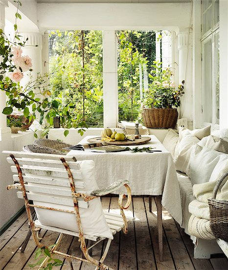 Sweden, Vastergotland, View of conservatory interior Stock Photo - Premium Royalty-Free, Image code: 6126-08643764