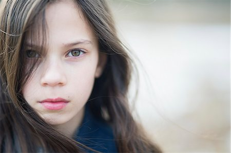 Sweden, Portrait of girl (10-11) with brown hair Stock Photo - Premium Royalty-Free, Code: 6126-08644001
