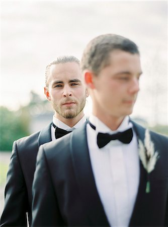 Sweden, Portrait of grooms at gay wedding Stock Photo - Premium Royalty-Free, Code: 6126-08644306