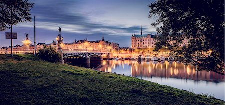 stockholm - Sweden, Stockholm, View of bridge and city Stock Photo - Premium Royalty-Free, Code: 6126-08644469