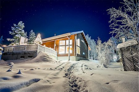 Finland, Lapland, Kittila, Levi, Cottage in winter Stock Photo - Premium Royalty-Free, Code: 6126-08644803