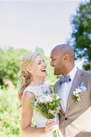 skinhead - Sweden, Smaland, Mullsjo, Smiling newly wed couple Stock Photo - Premium Royalty-Free, Code: 6126-08658871