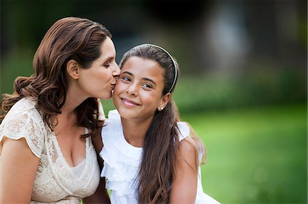 Portrait of mother and daughter. Stock Photo - Premium Royalty-Free, Code: 6128-08780699