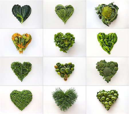 Heart-shaped formed by fresh vegetables Stock Photo - Premium Royalty-Free, Code: 613-07454514